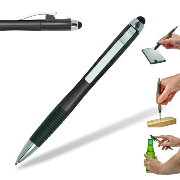 kugelschreiber-bottle-kapselheber-flaschenöffner-schwarz