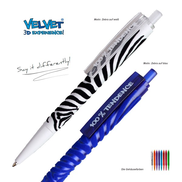 Kugelschreiber Velvet Zebra