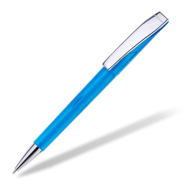 Kugelschreiber EVO Transparent Metall hellblau