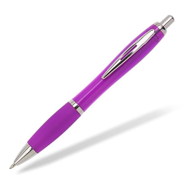 Kugelschreiber Toppy clear lila