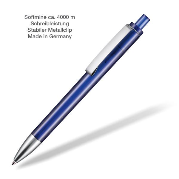 Kugelschreiber Exos transparent blau
