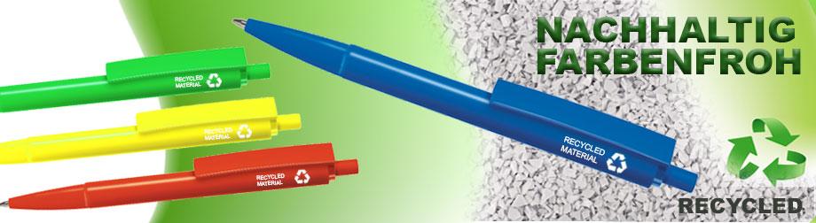 Recycling-Kugelschreiber_bunte-Farbvielfalt