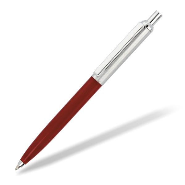 schlanker Metallkugelschreiber Metreto Vorderteil rot