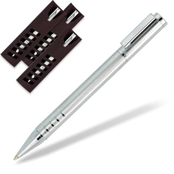 Metallkugelschreiber Rappon silber