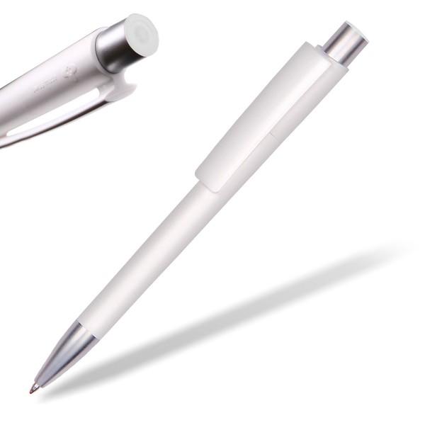 Kugelschreiber Delta Sport 806 weiß mit Applikation weiß