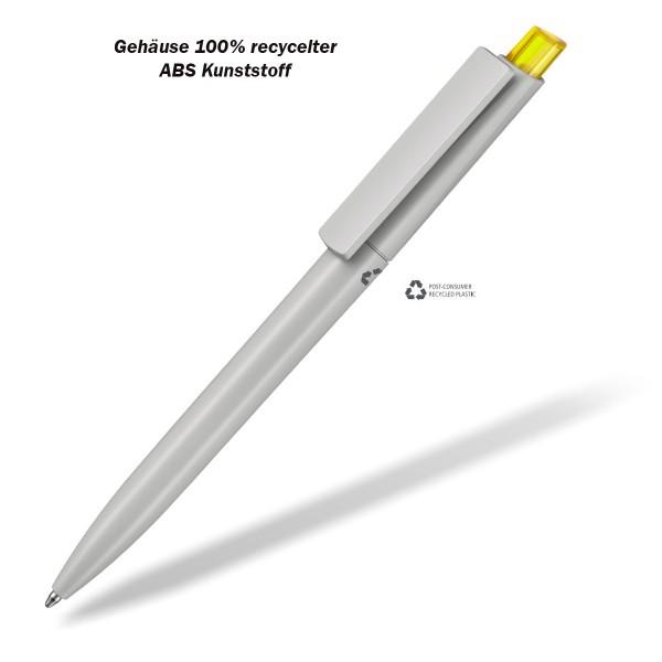 Kugelschreiber Crest recycelt gelb
