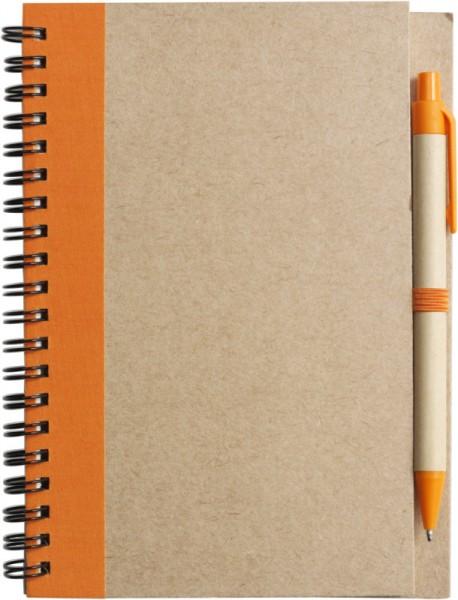 notizbuch-recycelt-orange